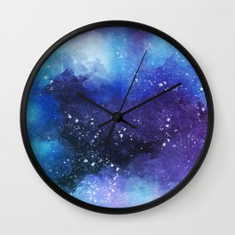 Watercolor Space Paint Wall Clock
