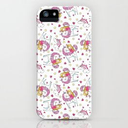 Unicorn Pattern | Mythical Creature Rainbow Horse iPhone Case