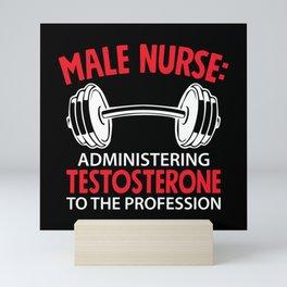 Male Nurse Mini Art Print