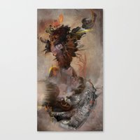 archan nair Canvas Prints featuring Vrika by Archan Nair