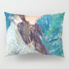Young Woman with a Straw Hat - Digital Remastered Edition Pillow Sham