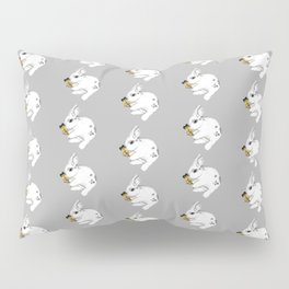 Some'bunny' Loves You...LOTS! (on grey) Pillow Sham