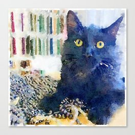 Alfred Watercolor Canvas Print
