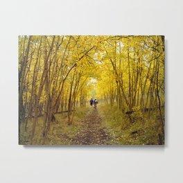 Fall's Golden Tunnel Metal Print