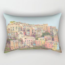 Colorful Houses Rectangular Pillow