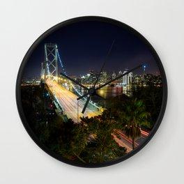 Bay Bridge Lights Wall Clock