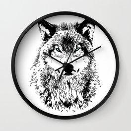 Wolf Eyes Wall Clock