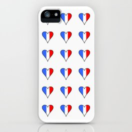 Flag of France heart- France, Français,française, French,romantic,love,gastronomy iPhone Case