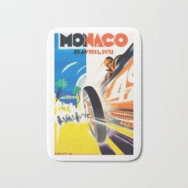 Grand Prix Monaco, 1931, vintage poster Bath Mat