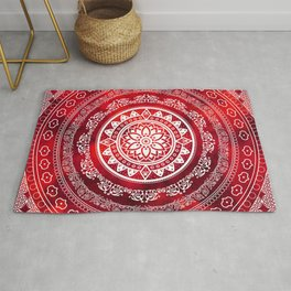 Mandala Scarlet Destiny Spiritual Zen Bohemian Hippie Yoga Mantra Meditation Rug