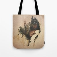 lost Tote Bags featuring Lost In Thought by Davies Babies