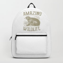 Amazing Wildlife Bear Woods Forest Animals Camping Backpack