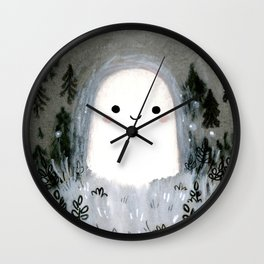 Little ghost for inktober Wall Clock