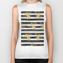 Golden bee noir Biker Tank
