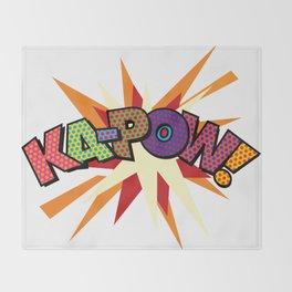 Comic Book Pop Art Sans KA-POW Throw Blanket