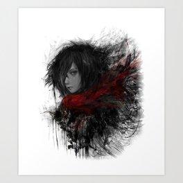 Shingeki no Kyojin Mikasa Ackerman Art Print