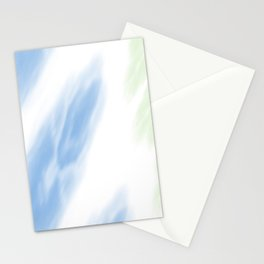 Blue Mint Tie Dye Abstract Stationery Cards