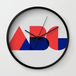 Geometric ABC Wall Clock