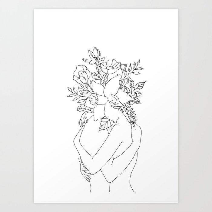 Blossom Hug Kunstdrucke