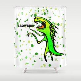 The Dinosaur says... RRRROOOWWRRR! Shower Curtain