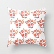 Orange floral pattern 2 Throw Pillow