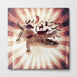 Croco Metal Print