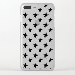 Black star Clear iPhone Case