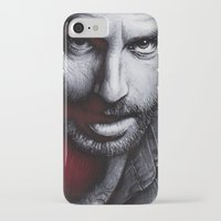 rick grimes iPhone & iPod Cases featuring The Walking Dead - Rick Grimes by Trev Murphy