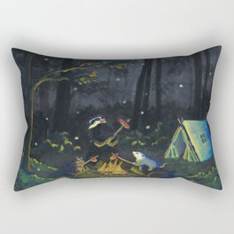 The Campers by Mary Bottom Rectangular Pillow