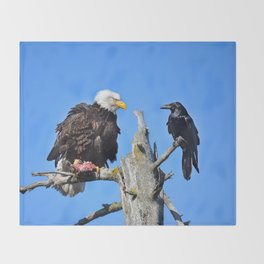 Avian Showdown Throw Blanket