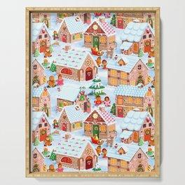 Gingerbread Village Serving Tray