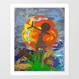 Fighting Elements Art Print