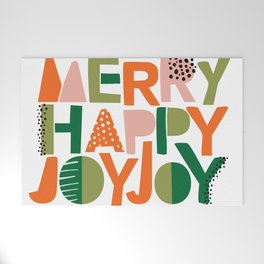 Merry Happy Joy Joy Welcome Mat