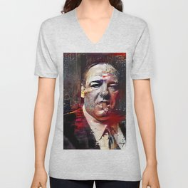 Tony Soprano Glitch Unisex V-Neck