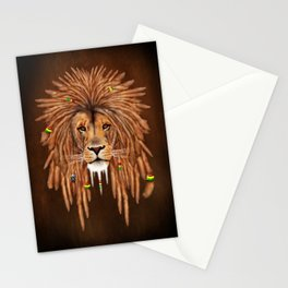 Dreadlock Lion Stationery Cards