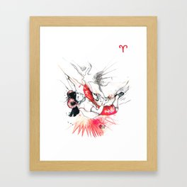 All-powerful Aries Framed Art Print