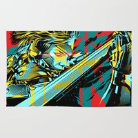 metal gear Area & Throw Rugs featuring Metal Gear Rising by Hypertwenty