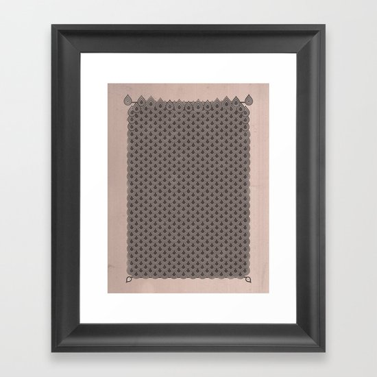 眞銀용갑옷 - Mithril DRAGON SCALES ARMOR CAPE Framed Art Print