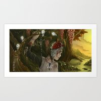 mononoke Art Prints featuring mononoke by Devon Busby Busbyart