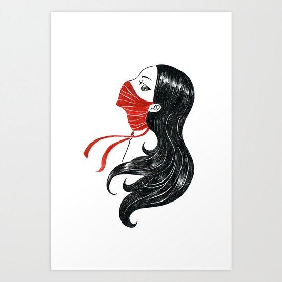 Speak not Art Print