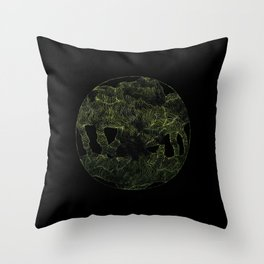 Unearthed Lines Throw Pillow