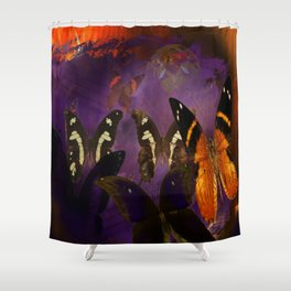 Butterfly flee Shower Curtain