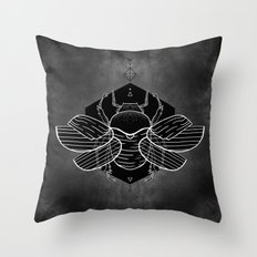 Scarab Vignette Throw Pillow