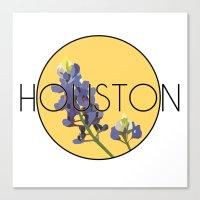 houston Canvas Prints featuring HOUSTON by Lauren Jane Peterson