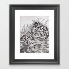 cute tiger Framed Art Print