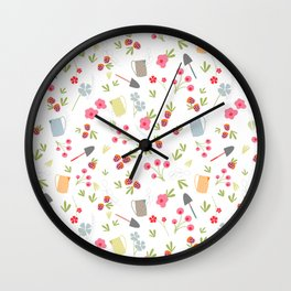 Spring gardening Wall Clock