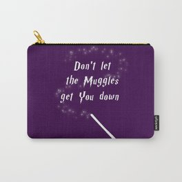Don't Let The Muggles Get You Down (White & Purple) Carry-All Pouch