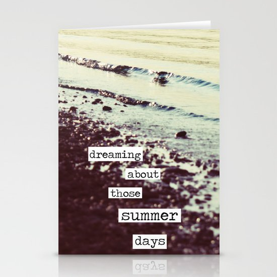dreaming about those summer days Stationery Cards