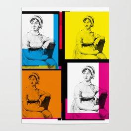 JANE AUSTEN (POP ART STYLE 4-UP COLLAGE) Poster