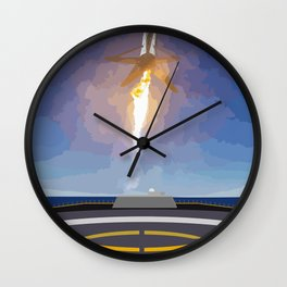 The Booster Has Landed Wall Clock